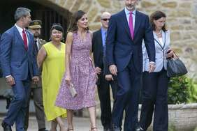 King Felipe VI and Queen Letizia of Spain visit Mission San JosŽ in San Antonio June 17, 2018.