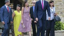King Felipe VI and Queen Letizia of Spain visit Mission San JosŽ in San Antonio June 17, 2018.