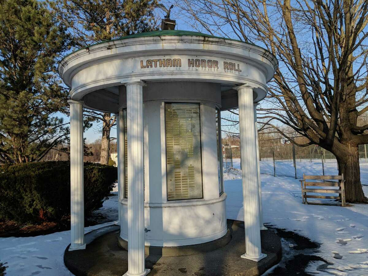 Provided Veterans Monument in Latham Kiwanis Park honoring military service of Latham residents is being updated through an Eagle Scout project.