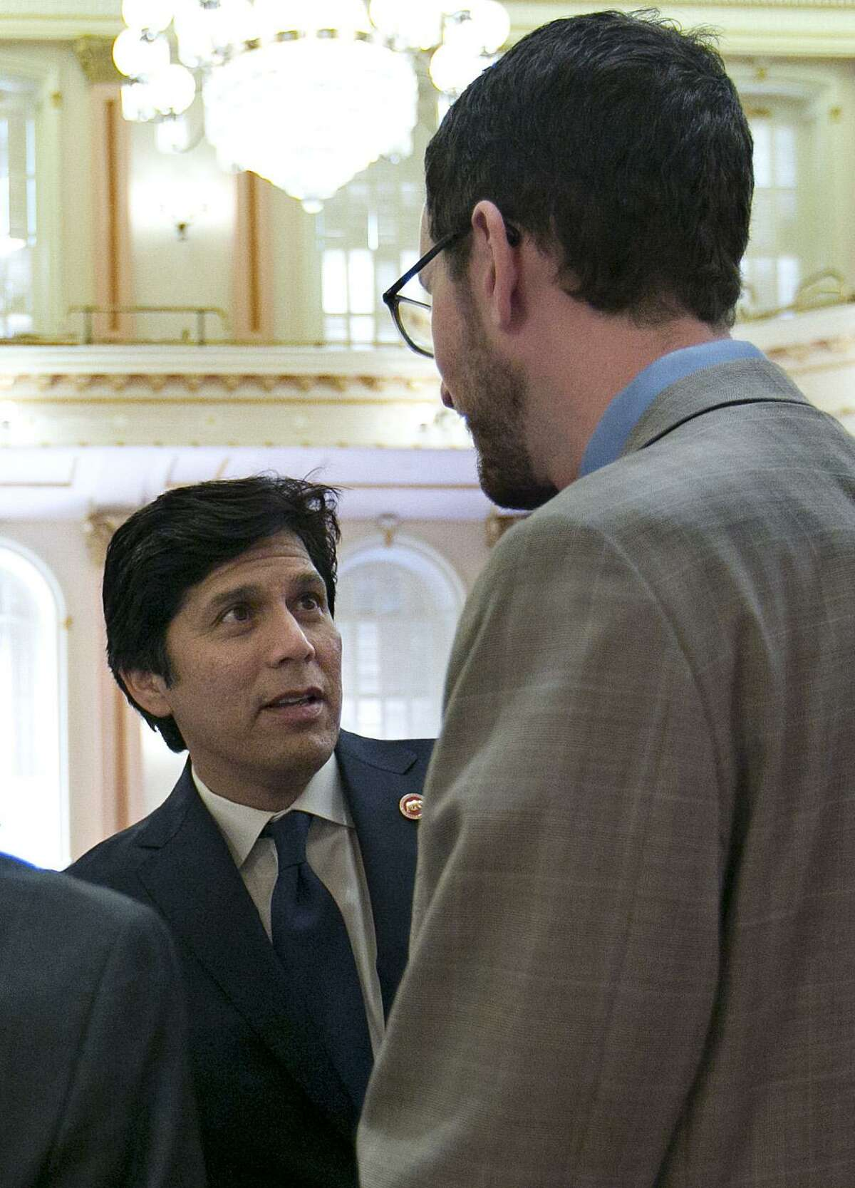 FILE-- Wiener and de León say the amendments they are introducing will prevent internet service provider from playing one bill against another.