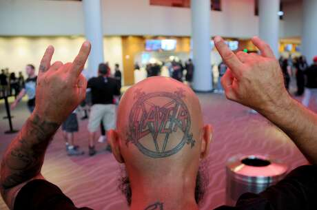 Fans of Slayer at the band's show at the Smart Financial Centre Sunday June 17,2018.(Dave Rossman photo) Photo: Dave Rossman