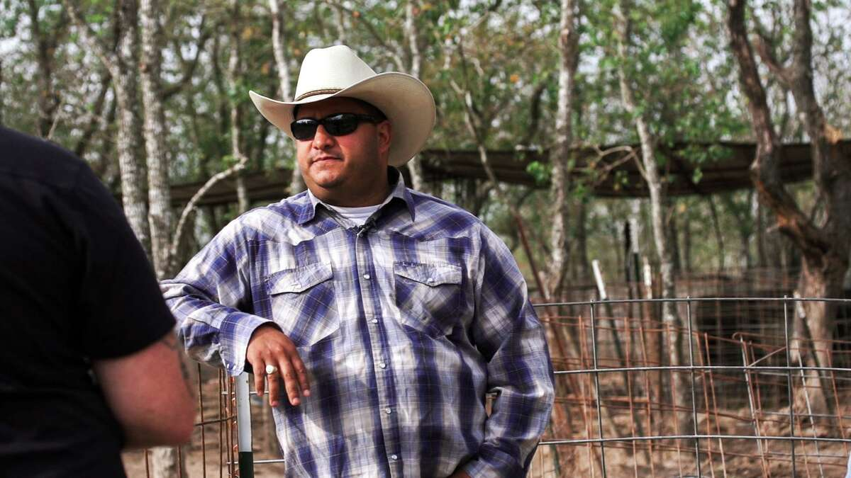 """Felix Florez, owner of Black Hill Ranch, a heritage breed pig farm in Cypress, TX, from """"Show Us Your Goods."""" Florez is opening Cherry Block Craft Butcher & Seasonal Kitchen at Bravery Chef Hall in downtown Houston."""