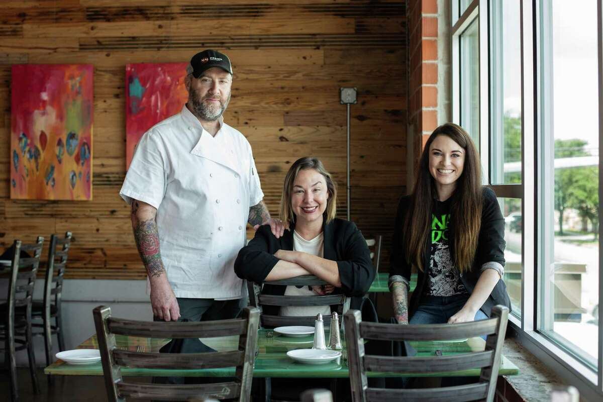 """The husband and wife team of Richard and Carrie Knight and producer Anna Boyter have created a reality television show about local farmers and food purveyors called """"Show Us Your Goods."""""""