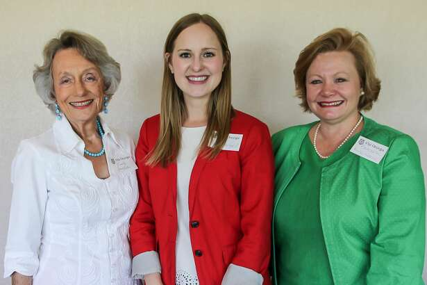 Chi Omega: Emily Goodfellow, from left, Anna Stanford and Barbara Kirk Norris