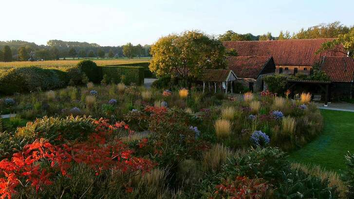 "One of the gardens designed by Dutch landscape designer Piet Oudolf, the subject of the documentary ""Five Seasons: The Gardens of Piet Oudolf.""   The gardens at Hummelo in the fall."