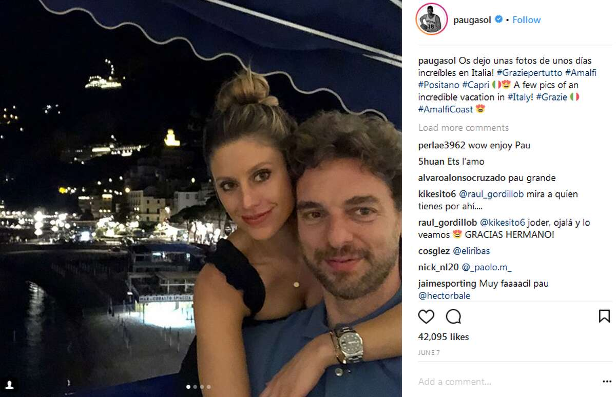 Paul Gasol vacationed in Italy