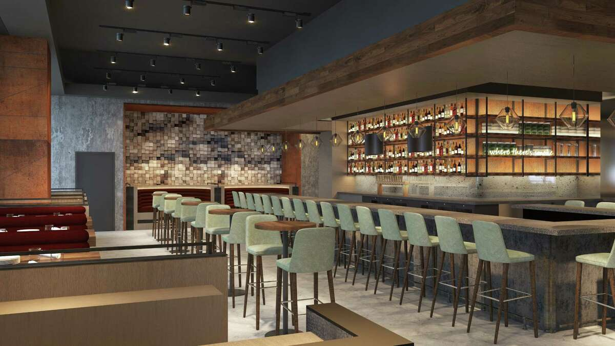 International Smoke, the new restaurant from celebrity chef Michael Mina and lifestyle expert Ayesha Curry will open at CityCenter July 5. Shown: rendering of restaurant.