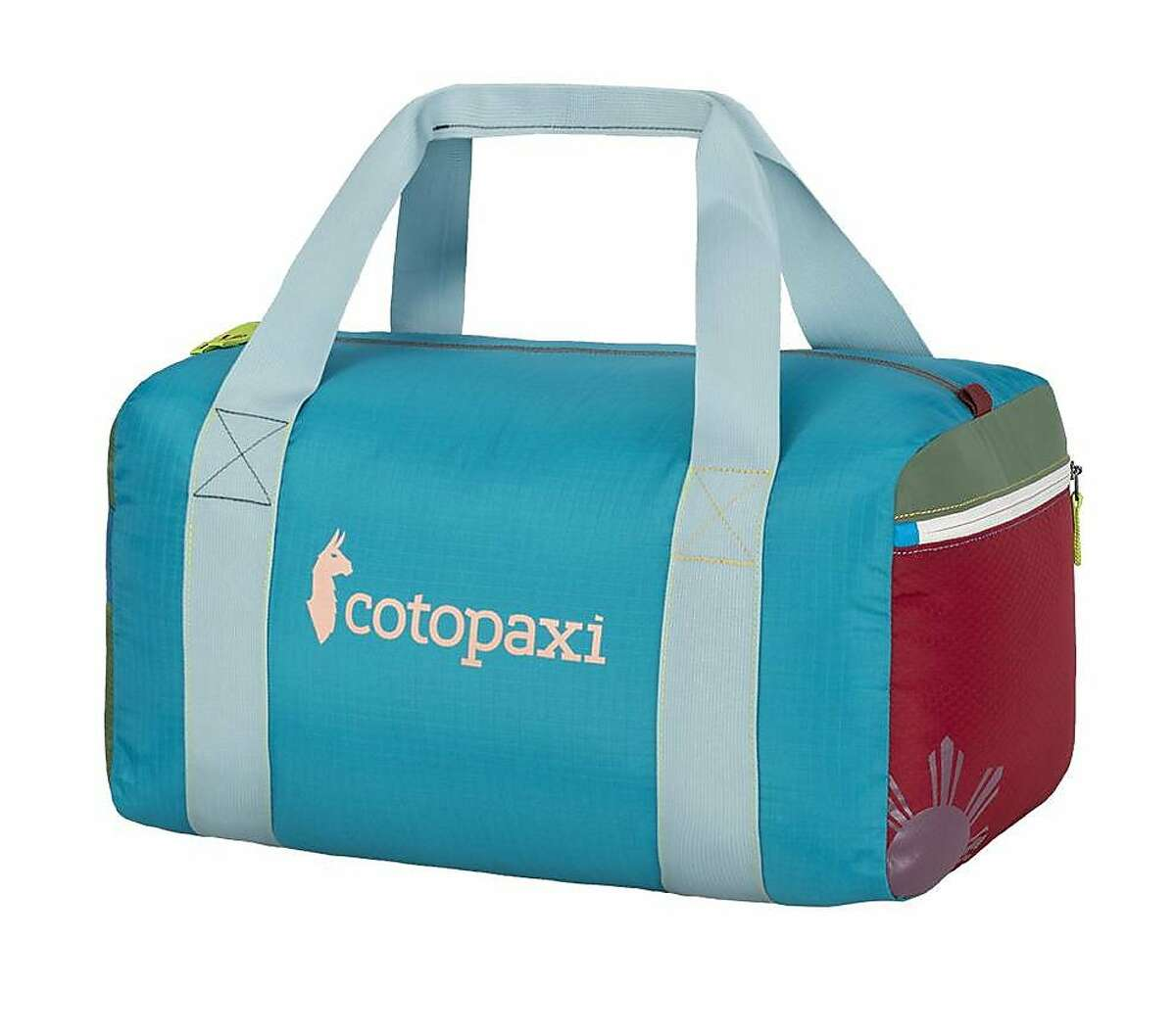 Cotopaxi Mariveles 32L Duffel Bag is among the Del Dia products, which are made from remnant nylon fabric, so everything is upcycled into the product you buy.