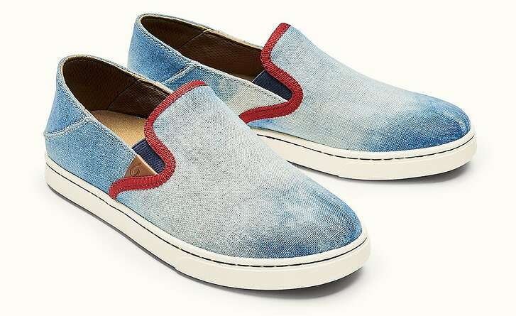 OluKai Pehuea Hawaiian Blue shoes.