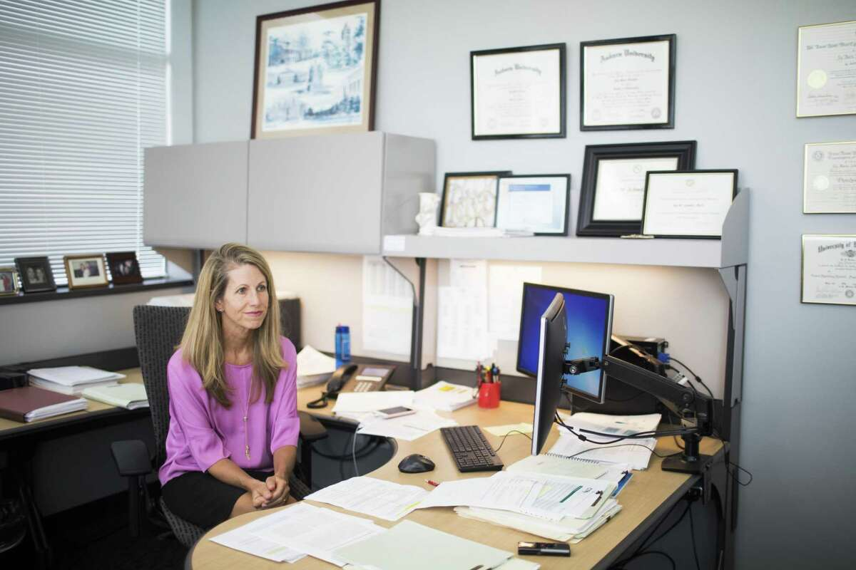Joy M. Schmitz, Ph.D., the director of the Center For Neurobehavioral Research on Addictions at UTHealth is conducting methamphetamine addiction research. Thursday, May 3, 2018, in Houston. ( Marie D. De Jesus / Houston Chronicle )