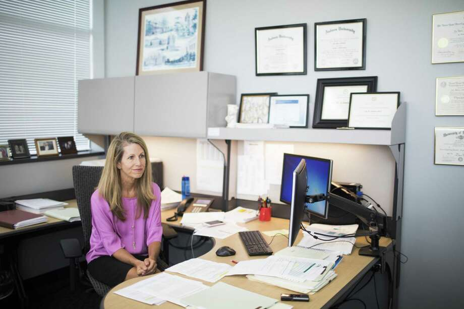 Joy M. Schmitz, Ph.D., the director of the Center For Neurobehavioral Research on Addictions at UTHealth is  conducting methamphetamine addiction research. Thursday, May 3, 2018, in Houston. ( Marie D. De Jesus / Houston Chronicle ) Photo: Marie D. De Jesus, Houston Chronicle / Houston Chronicle / © 2018 Houston Chronicle