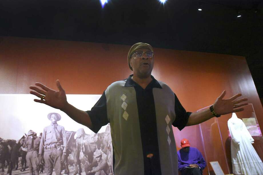 "Actor Carl Brooks rehearses ""Ode to Juneteenth."" Brooks and actress Charlene Watts will perform the solo show as part of the Tricentennial exhibit ""Confluence and Culture: 300 Years of San Antonio History."" Photo: Billy Calzada /San Antonio Express-News / San Antonio Express-News"