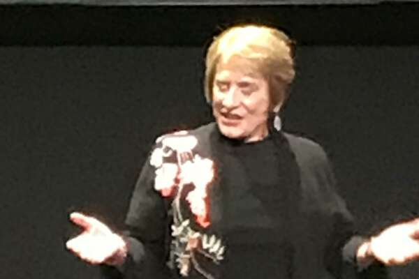 Patti LuPone onstage at the Curran