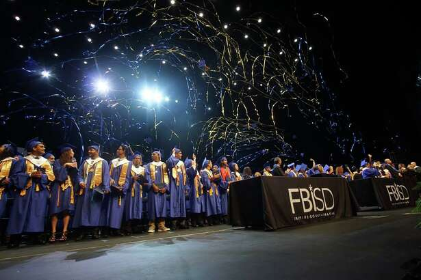 Scenes from Fort Bend ISD high school graduations.