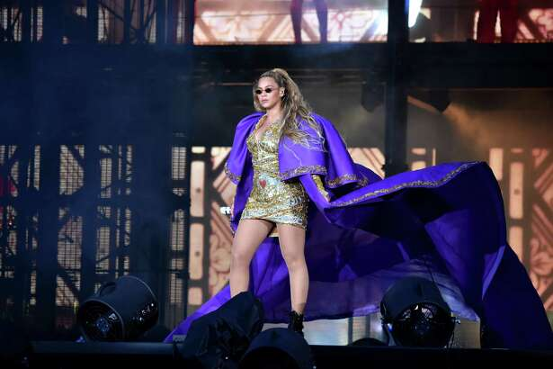 Beyonce and Jay-Z 'On the Run II' Tour - GlasgowGLASGOW, SCOTLAND - JUNE 09: Beyonce performs in purple on stage during the 'On the Run II' Tour with Jay-Z at Hampden Park on June 9, 2018 in Glasgow, Scotland.