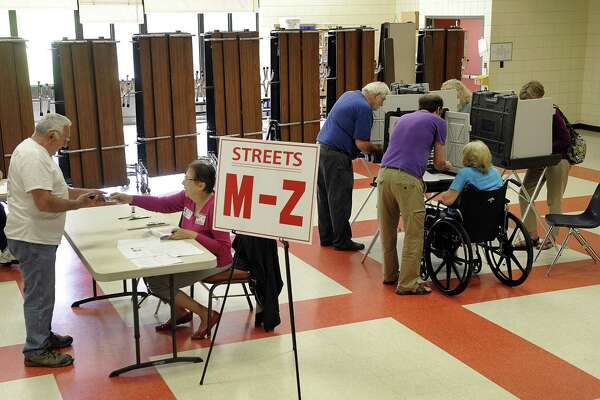 File photo of the first New Milford budget referendum at Northville Elementary School, May 15, 2018.