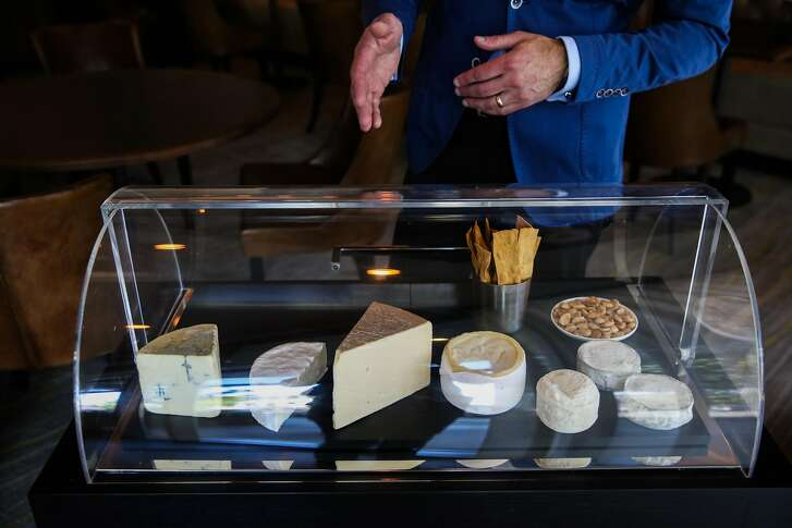 The cheese cart at Protege restaurant in Palo Alto, California, on Sunday, June 10, 2018.