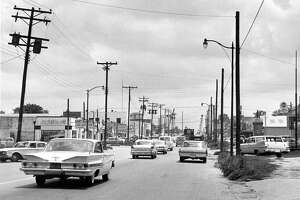 July 1963:  Broadway is the main street of old Harrisburg: Lined with stores, its four lanes are usually crowded with cars.