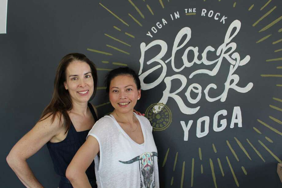 (Left to Right) Black Rock Yoga co-owner Stefanie Buchalter and program director Judy Orr. Photo: Jordan Grice / Hearst Connecticut Media / Connecticut Post