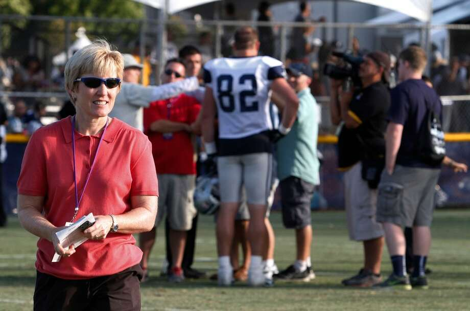 Beaumont native Charean Williams will be inducted into the Pro Football Hall of Fame for her work as a sports reporter. Chareen during a Dallas Cowboys training camp in Oxnard, California. Photo provided by Charean Williams