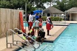 Houston Council member Greg Travis and the YMCA kicked off free swimming lesson and a water safety program in District G.