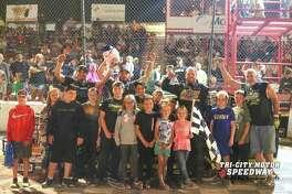 AJ Ward won the IMCA Modified Challenge on Friday at Tri-City Motor Speedway (Photo provided by Amanda Scott)