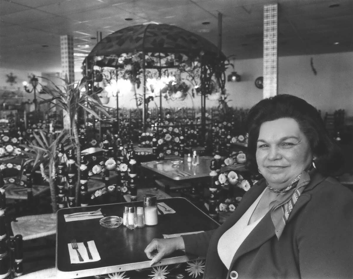 May 1978: Restaurateur Ninfa Laurenzo takes a short break in the mid-afternoon when tables empty between shifts at Ninfa's on Navigation.