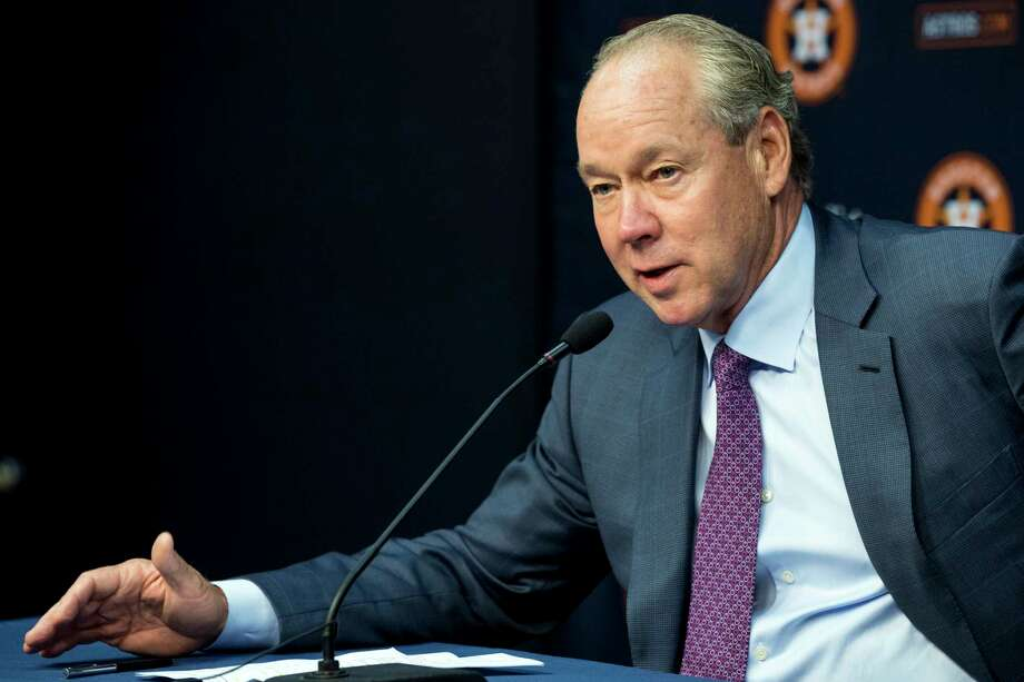 Astros owner Jim Crane says the Astros Foundation, prompted by the furor associated with the team's acquisition of relief pitcher Roberto Osuna, will within a few days announce its plans to support domestic violence awareness and prevention programs. Photo: Brett Coomer / © 2018 Houston Chronicle