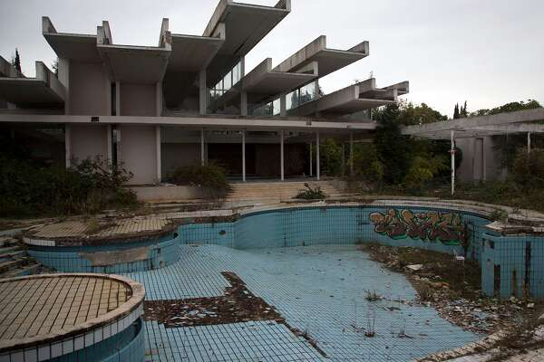 This used to be a gleaming upscale resort on the Adriatic island of Krk, Croatia. But today it sits abandoned because of ownership and management issues.