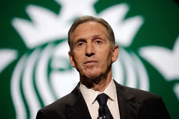 (FILES) In this file photo taken on March 22, 2017, Starbucks Chairman and CEO Howard Schultz speaks at the Annual Meeting of Shareholders in Seattle, Washington.  Schultz, who built a small Seattle coffee chain into the global powerhouse Starbucks, announced on June 4, 2018, he was retiring from the company, fueling speculation he may seek the Democratic presidential nomination in 2020. Schultz, 64, has been serving as executive chairman of Starbucks since stepping down as chief executive in April of last year and handing over to Kevin Johnson.  / AFP PHOTO / Jason RedmondJASON REDMOND/AFP/Getty Images