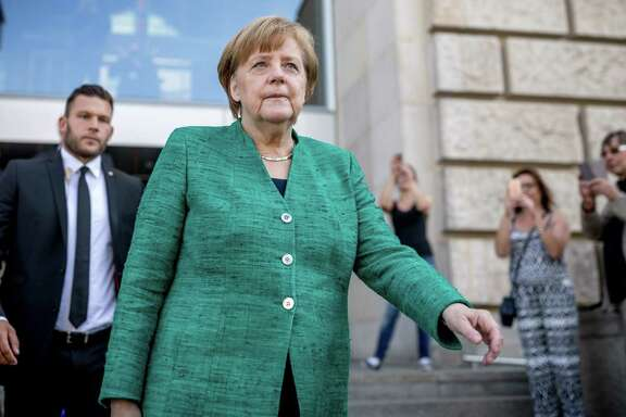 Faced with nationalistic, right-wing populists, German Chancellor Angela Merkel party, the conservative Christian Democratic Union (CDU), has to decide if her party swings right or fights — dilemma similar to the GOP's here.