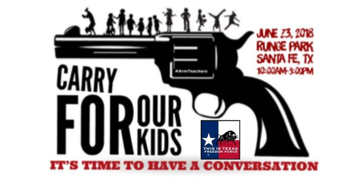 """The This is Texas Freedom Force will host the """"Carry for our Kids"""" pro-gun rally in Santa Fe on Saturday, a little more than a month after a 17-year-old gunman killed 10 and wounded 13 at Santa Fe High School."""