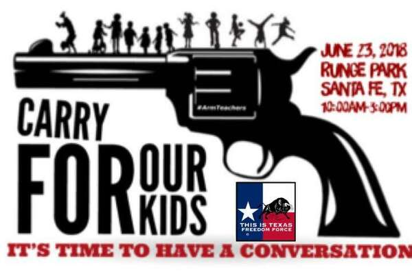 "The This is Texas Freedom Force will host the ""Carry for our Kids"" pro-gun rally in Santa Fe on Saturday, a little more than a month after a 17-year-old gunman killed 10 and wounded 13 at Santa Fe High School."