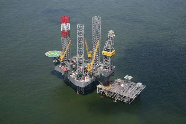 The Rowan EXL III rig working a platform on Grand Isle for Energy XXI. Energy XXI is an independent oil and natural gas exploration and production company based in Houston.