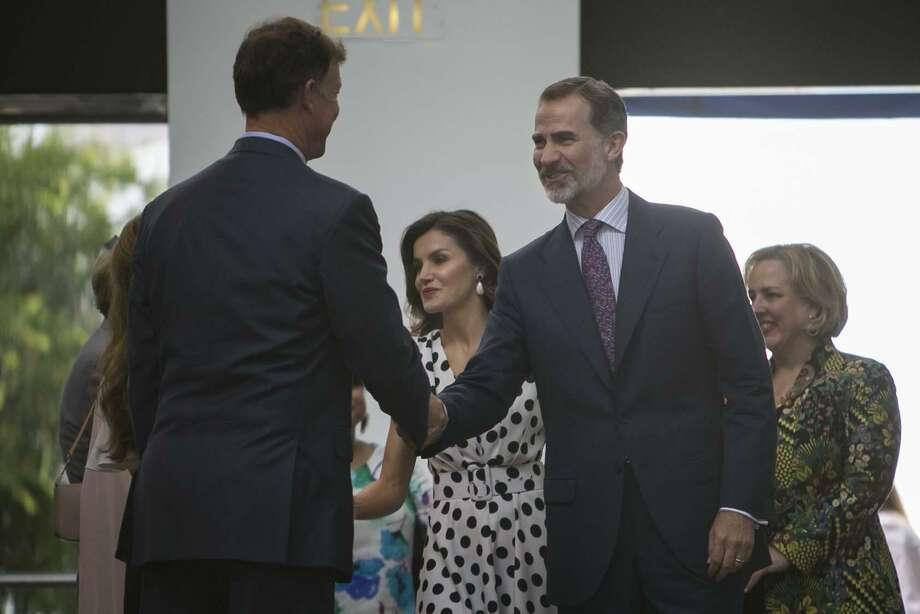King Felipe VI and Queen Letizia of Spain arrive at the San Antonio Museum of Art June 18, 2018. Photo: Josie Norris, Staff / San Antonio Express-News / © San Antonio Express-News