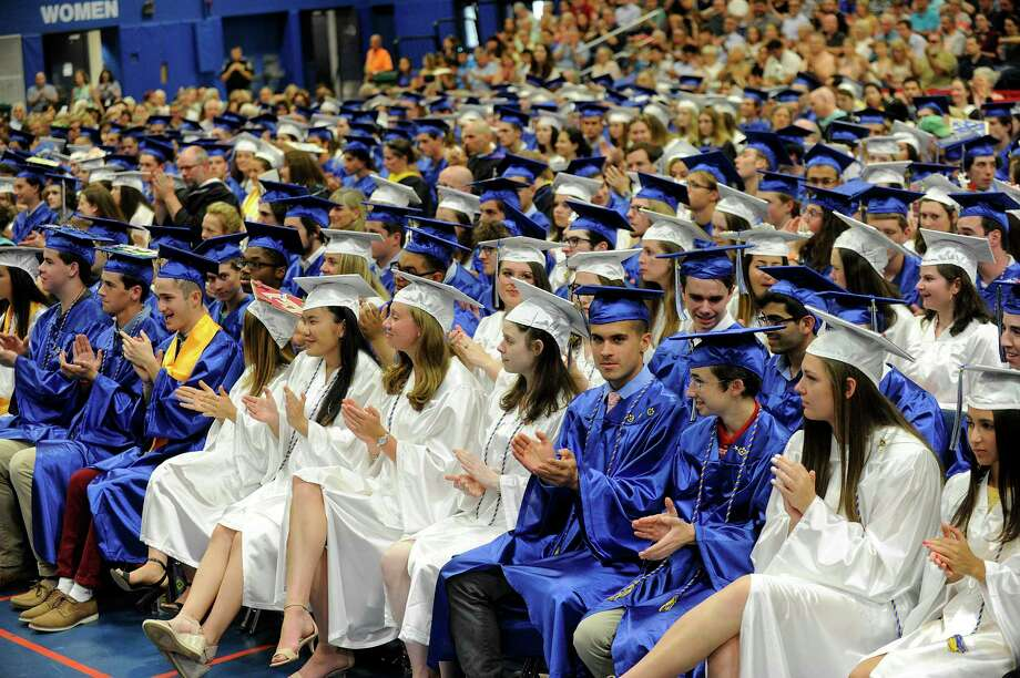 Newtown High School Class 2018 graduates with a ceremony held at the O'Neill Center at Western Connecticut State University Monday, June 18, 2018. Photo: Carol Kaliff, Hearst Connecticut Media / The News-Times
