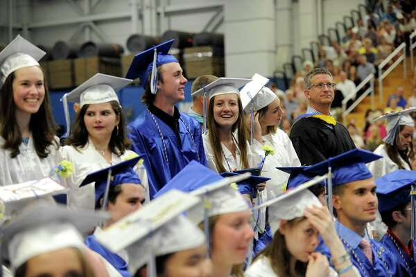Newtown High School Class 2018 graduates with a ceremony held at the O'Neill Center at Western Connecticut State University Monday, June 18, 2018.