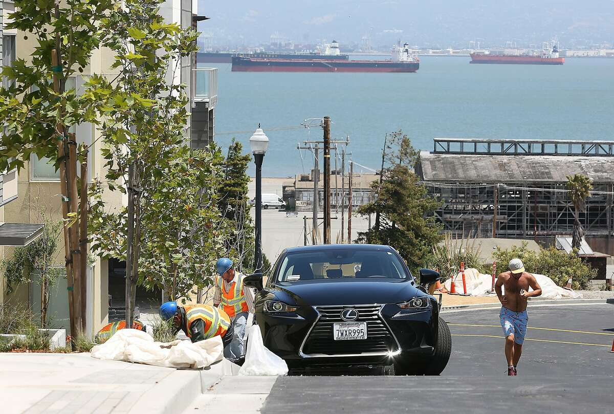 Landscaping being worked on Coleman St. at Hunters Point shipyard on Monday, June 18, 2018 in San Francisco, Calif.