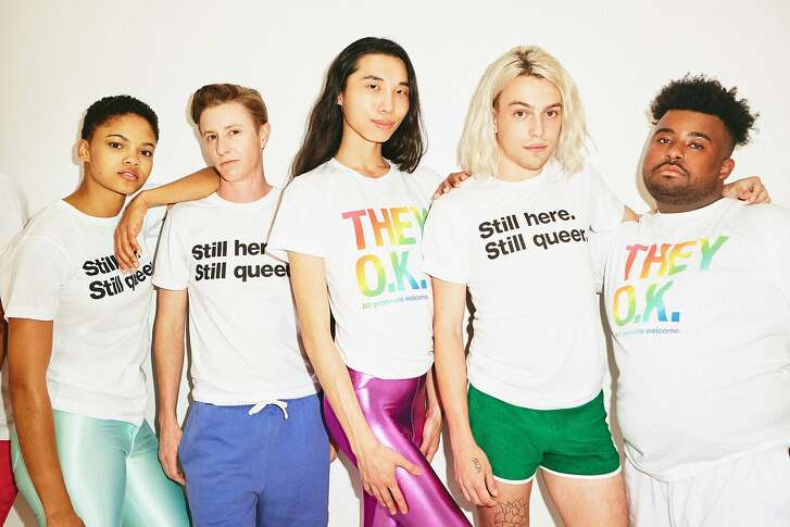American Apparel has debuted a �They O.K.� collection and campaign for Pride 2018. The three-piece capsule collection includes two unisex tees, each featuring one of two slogans, �Still here. Still queer.� and �They O.K.: All Pronouns Welcome�, both retailing for $24.00 each. A tote bag retails for $30.00.