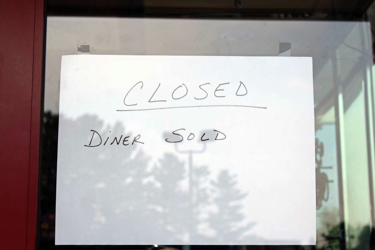 This sign was all that was posted at the Athena Diner to let patrons know it had closed. Fairfield,CT. 6/18/18