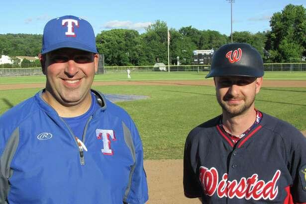 Torrington's Doug Pergola, left, and Winsted's Rob Jasmin take over as head coaches for American Legion baseball's intense summer season.