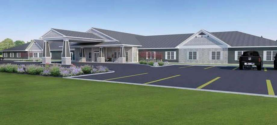 A rendering of the new Meridian Acres, a 40-bed assisted living/memory care facility, at 2905 N. Meridian Road.