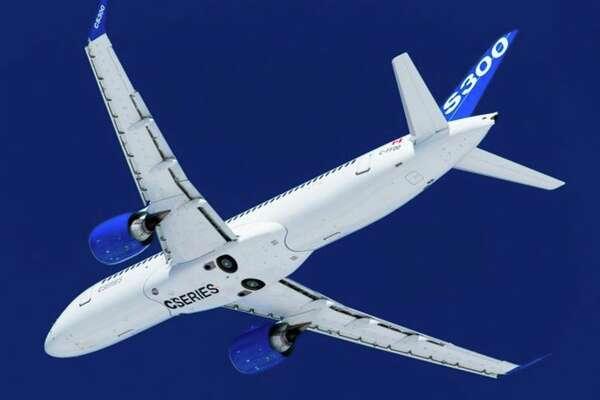 A Bombardier CS300 jet. (Image: Bombardier)
