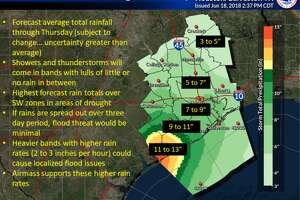 Much of the Houston area is under a flash flood watch on Tuesday, June 19, 2018.