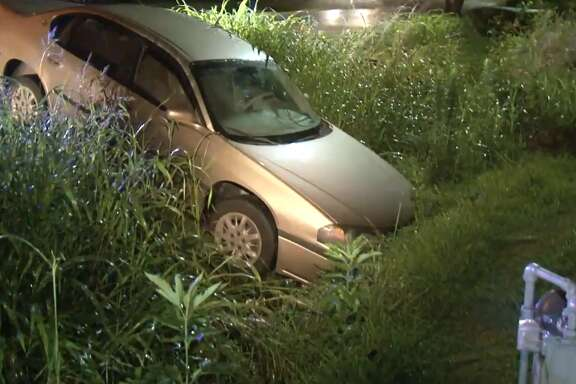 A police chase ended when a driver crashed into a ditch on Rand, on Tuesday, June 19, 2018. The driver and a passenger were not caught.