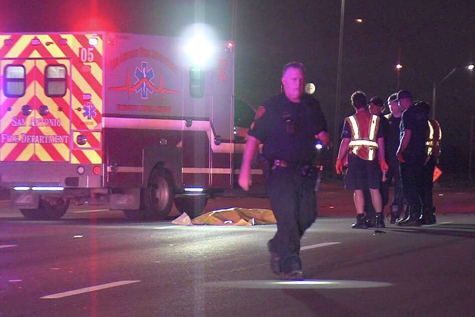 The victim, a man in his mid-20s to early-30s, was struck by the police SUV around 12:30 a.m. June 19, 2018, on I-35 near AT&T Center Parkway.