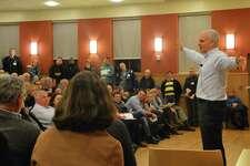David Neeleman speaks in March 2014 in Darien, Conn.