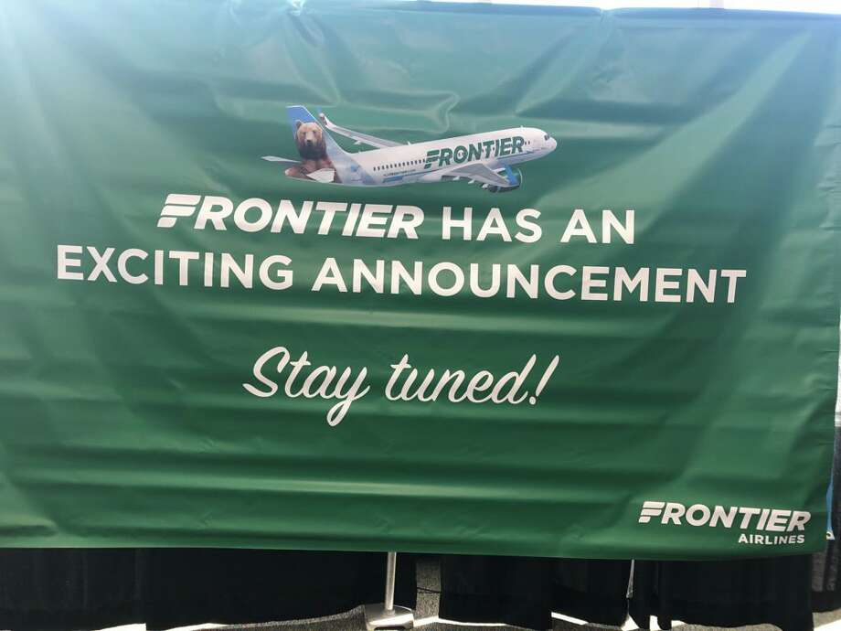 Frontier Airlines announced it will soon begin flying direct routes from Albany to Denver and Orlando, Fla. Photo: Will Waldron / Times Union
