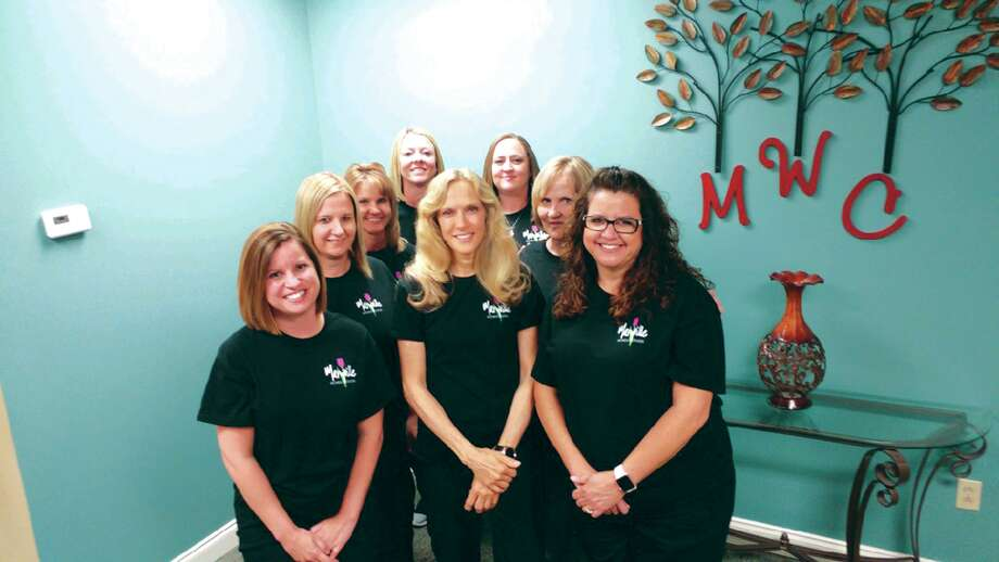 In front are, from left: Tara Whitt, Tina Gingrich, Tammy Young. In back are, from left: Sommer Mcaley, Lynn Billhartz, Kari Sabaini, Lesley Ayran, Jill Wheat.
