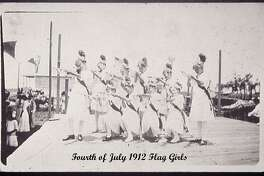 These were Pearland's flag girls in 1912.